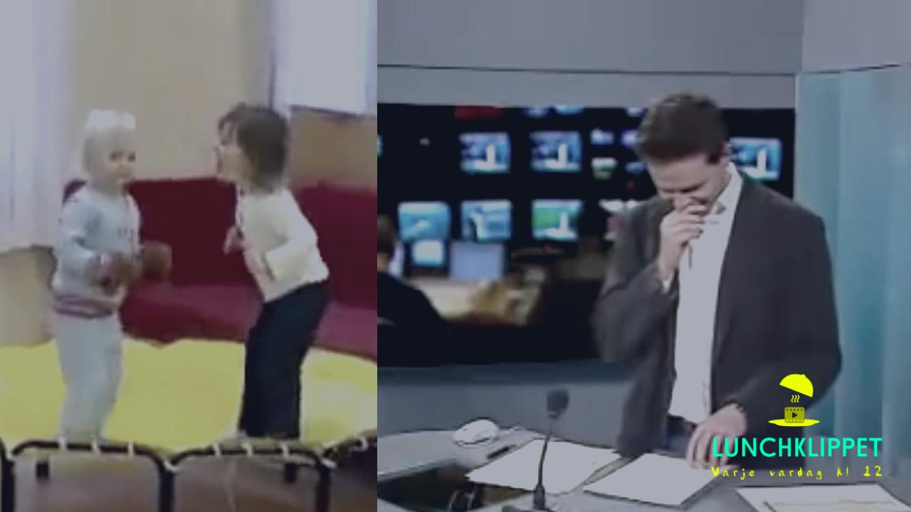KLASSIKER: SVT:s nyhetsankare kan inte hålla sig för skratt!