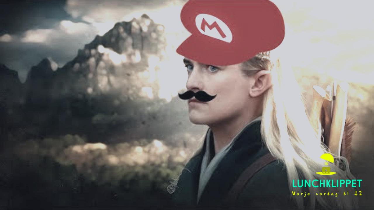 Har du också sett den här likheten mellan Legolas och Mario?