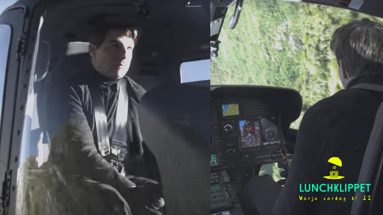 Tom Cruise gör ett galet helikopter-stunt! Skulle du våga?